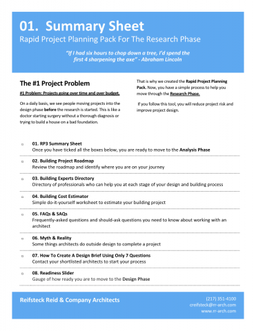 Project Planning Pack